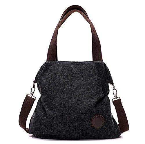 pengweiBolso simple del bolso del mensajero del hombro del color puro de la lona de la bolsa de las se?oras bolso , 5