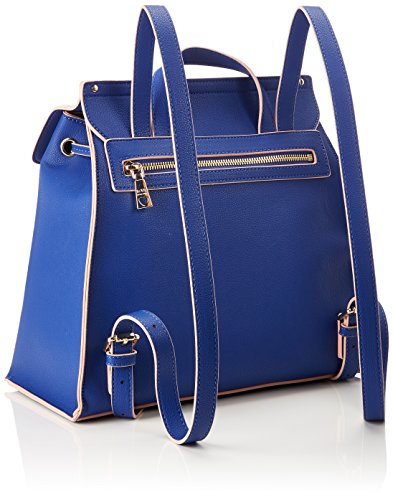 Blu Love 15x30x32 Borsa B T Backpack Pu Grain cm Womens Handbag Small H Blue Moschino x v7xvX