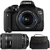 Canon EOS Rebel T6i DSLR Camera with 18-55mm IS STM Lens + Canon EF-S 55-250mm f/4-5.6 IS STM Lens (International Version)