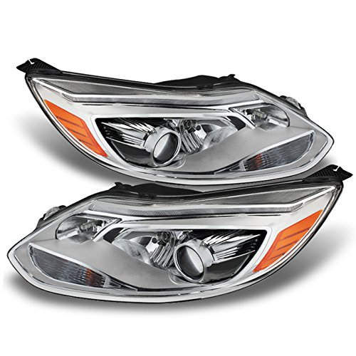 - For Ford Focus Chrome Clear Euro Spac Plug N Play Daylight LED Strip Projector Headlights Replacement