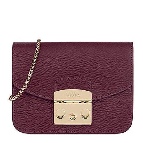 Furla Women's Metropolis Mini Crossbody Bag, Armanto, Red, Purple, One - Furla Bag Leather