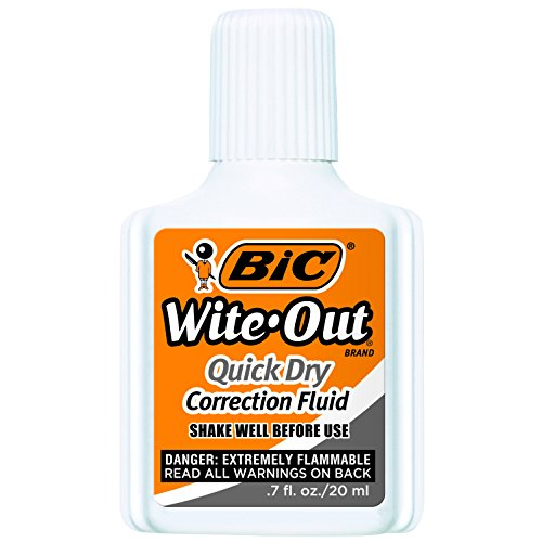 BIC Wite-Out Quick Dry Correction Fluid - 3 Pack (BICWOFQD324) by BIC (Image #1)
