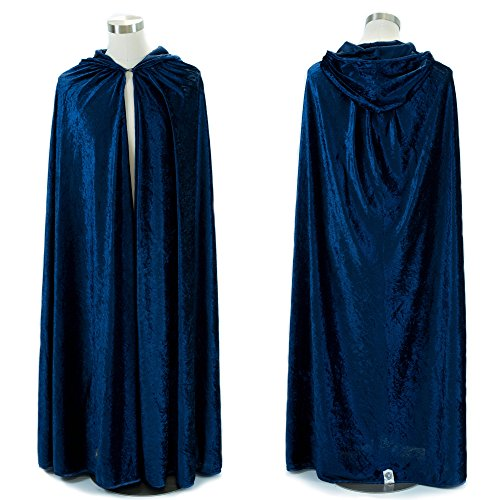 Everfan Navy Blue Hooded Cape | Cloak with Hood for Halloween, Cosplay, Costume, Dress (Navy Blue Mens Costumes)