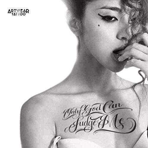 """Tatouage Temporaire ArtWear Tattoo """"Only God Can Judge Me"""""""