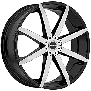 Akuza 843 Zenith 22x8.5 Black and Machined Wheel / 5x108mm 5x114.3mm / 45mm Offset / 74.1mm Hub Bore