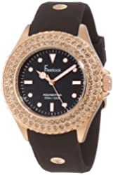 Freelook Women's HA9036RG-2 Brown Band & Dial Rose Gold Case Swarovski Bezel Watch