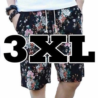 14.B ブラックフラワー_3XL