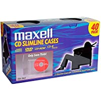 MAXELL CD-365 Slimline Jewel Cases - Packaged Quantity: 40 / 190074 /