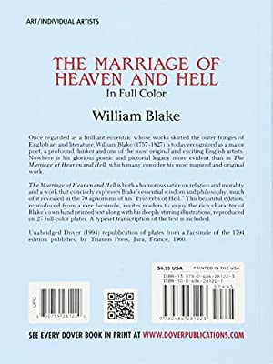 william blake the marriage of heaven and hell poem