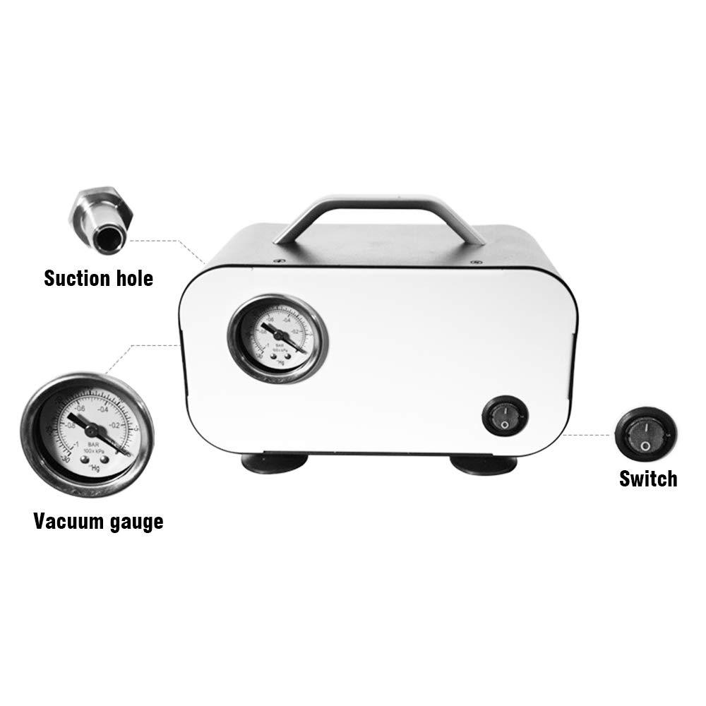 Kacsoo Handheld Lab Oil-free Diaphragm Vacuum Pump 10L//min Portable Adjustable Pressure Pump 0-75KP
