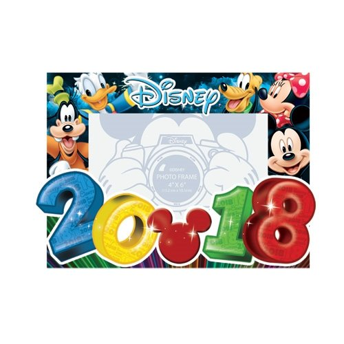 Disney 2018 Photo Frame 4x6 Big Numbers Mickey Mouse (Disney Picture Frames 4x6)