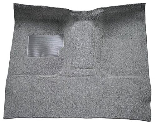 1965 to 1972 Ford Standard Cab Pickup Truck Carpet Custom Molded Replacement Kit, C-6 Trans, High Tunnel, With Gas Tank In Cab (801-Black Plush Cut Pile)