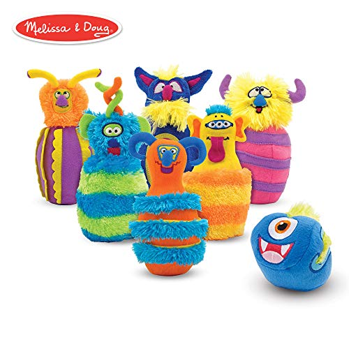 Melissa & Doug Monster Bowling Game (8 Pieces, Mesh Storage Bag) ()