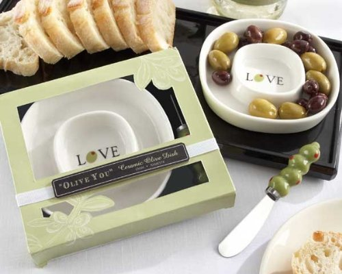''Olive You'' Olive Tray and Spreader [Set of 48]