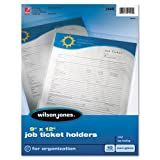 Job Ticket Holder, Non-Glare Finish, Clear Front/Frosted Back, 10/Pack, Sold as 1 Package