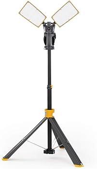 Lutec 7,000-Lumen Dual-Head LED Work Light with Telescoping Tripod