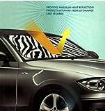 zebra car accessories interior - White Zebra Animal Print Car Truck Front Windshield Auto Accordion Style Sunshade - Jumbo Size