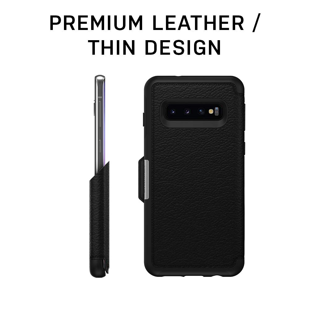 OtterBox STRADA SERIES Case for Galaxy S10+ - Retail Packaging - ESPRESSO (DARK BROWN/WORN BROWN LEATHER) by OtterBox (Image #5)
