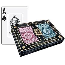 Kem Arrow Playing Cards Poker Size Wide Jumbo Index Plastic Cards 2 Deck Set