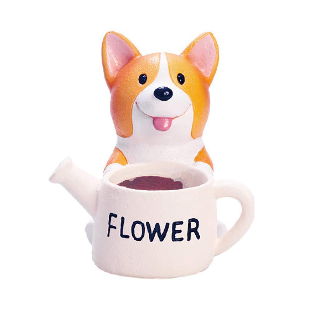 JDgoods Mini Cartoon Animal Succulent Vase Flower Pot Plant Container Flowerpot Planter for Home Garden Office Desktop Decoration Gift (F)
