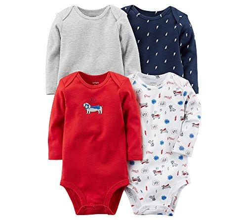 Carter's Baby Boys' 4-Pk. Long Sleeve Original Bodysuits 18 Months