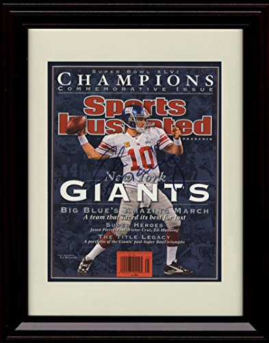 Framed Eli Manning Sports Illustrated Autograph Replica Print - 2012