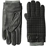 Ted Baker Men's OBLIN Quilted Gloves, black, M/L