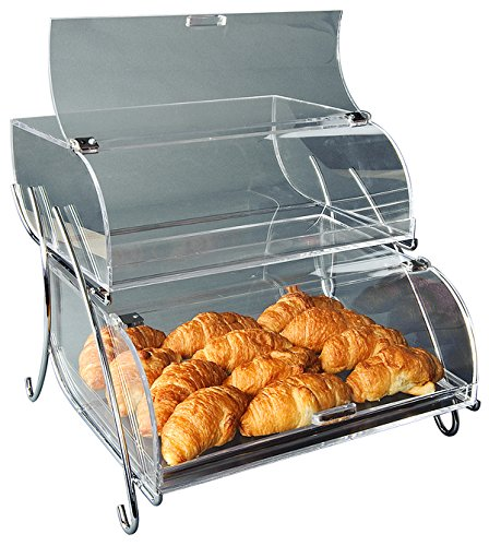 Self Serve Bakery Display Case (Rosseto BAK2937 2-Shelf Bakery Display Case, Clear)
