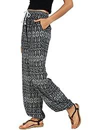 Women's Floral Print Boho Yoga Pants Harem Pants Jogger Pants