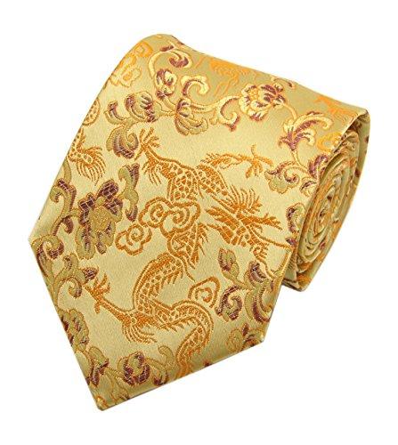 Men Yellow Golden Tie Necktie Great for Weddings Groom Groomsmen Missions Dances