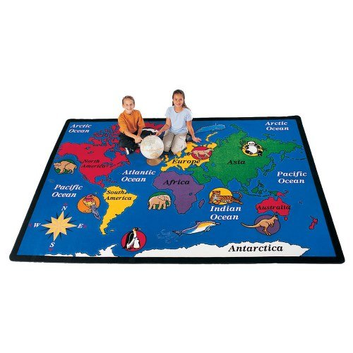 2 Geography World Explorer Kids Rug Size x x, 8'4