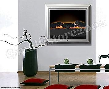 Elektro Wandkamin LAUSANNE Mit Feuereffekt 2000W Elektrokamin Radiator  Wandofen Elektroofen Heizung Elektroheizung Mit Simulierten Kaminfeuer
