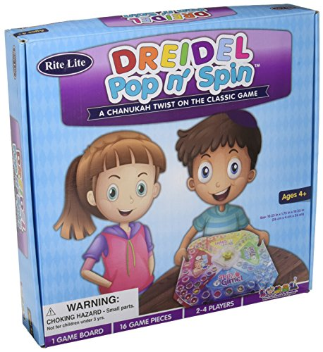 Rite Lite Dreidel Pop & Spin Chanukah Game, Multi (The Spin Dreidel)