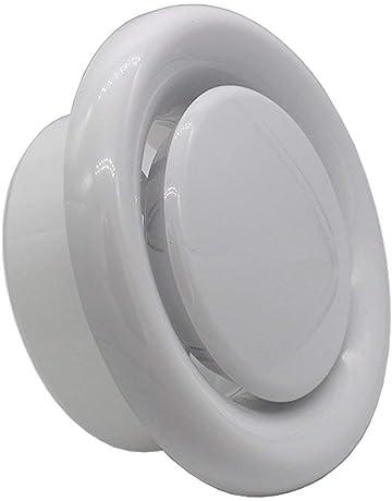 Blauberg - Difusor de ventilación de techo redondo con válvula de rejilla y anillo de retención