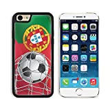 Liili Premium Apple iPhone 6 iPhone 6S Aluminum Backplate Bumper Snap Case iPhone6 IMAGE ID: 14163144 Soccer Goal Portuguese flag with a soccer ball in a net Vector illustration