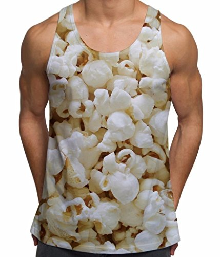 Popcorn All Over Print Men's Vest - XX Large (Popcorn Print)