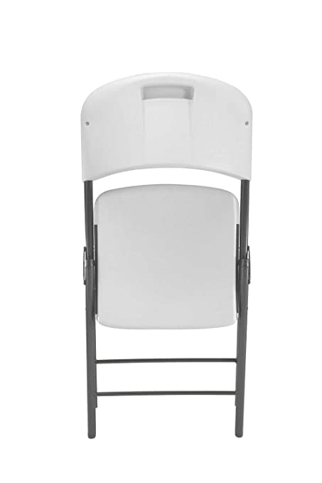 Amazon.com: Lifetime 22804 Classic Commercial Folding Chair, White Granite, 1-pack: Garden & Outdoor