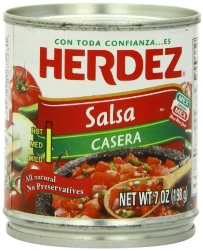Herdez Salsa Casera, 7-Ounce Cans (Pack of 24)