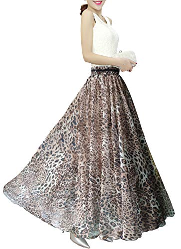 Afibi Boho Floral Long Summer Beach Chiffon Wrap Cover Up Maxi Skirt for Women (Small, Pattern 108)