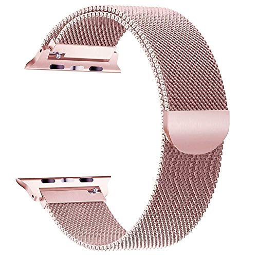 R-Jado Wrist Band Compatible with Apple Watch Series 1,2,3,4 Stainless Steel 38MM - 42MM (Rose Gold, 38MM)