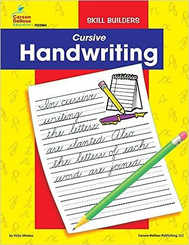 Amazon.com: Cursive, Grades 2 - 4 (Handwriting Skill Builders ...