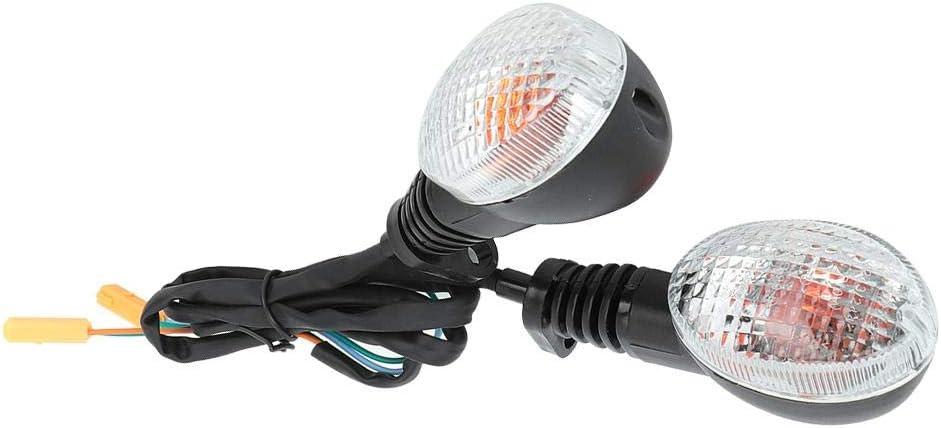 Black Turn Signal Light Lamp Indicator Lamo 2PCS Fit For Kawasaki Para Ninja 250 Motorcycle Modification