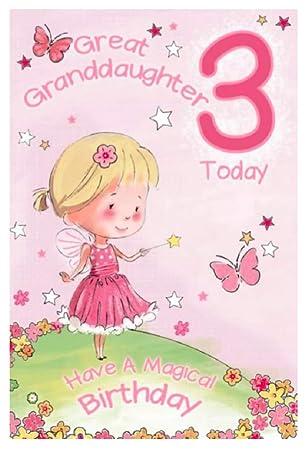 Great Granddaughter 3rd Birthday Card GR 206128