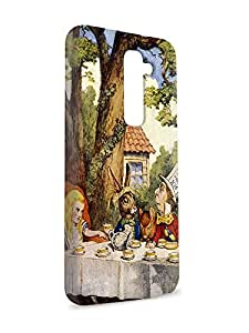 Case Fun Case Fun Alice in Wonderland Mad Hatters Tea Party Snap-on Hard Back Case Cover for LG G2