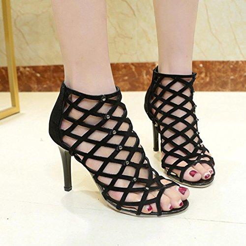 scintillantes Sandales talons bureau bout femmes Escarpins Gladiator pour utilitaires fermé Chaussures VEMOW de bureau travail de forme à Plate de à club de romaines Chaussures pqREZCTxw