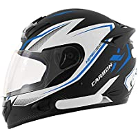 Capacete Moto MX2 Carbon X Preto com azul Brilhante 56