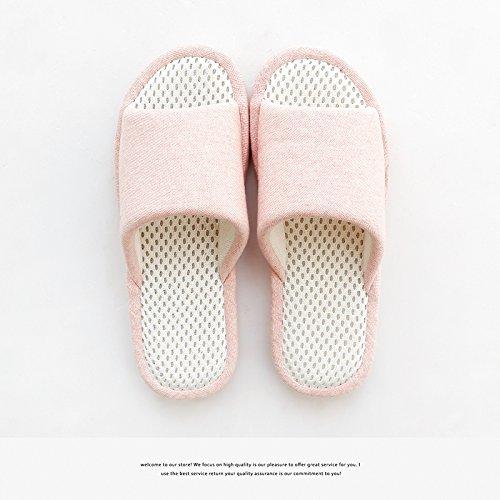 los antideslizante mujer transpirabilidad Luz Zapatillas invierno el DogHaccd de zapatos anti Rosa4 interior deslizamiento zapatillas gruesa la suelo las en nbsp;Durante otoño primavera y parejas casa home 1qggAw47