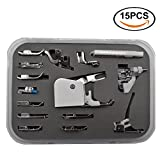 zipper foot singer simple - Renashed Professional 15pcs Domestic Sewing Presser Foot Kit Presser Walking Foot Kit For Brother, Singer, Babylock, Janome, Pfaff, Kenmore, Riccar, Necchi And Low Shank Sewing Machines