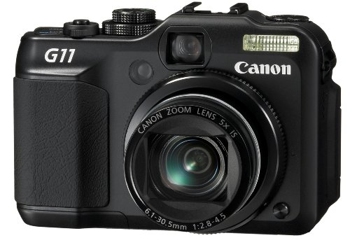 Canon PowerShot G11 10MP Digital Camera with 5x Wide Angle Optical Stabilized Zoom and 2.8-inch articulating LCD (Canon G10 Powershot)