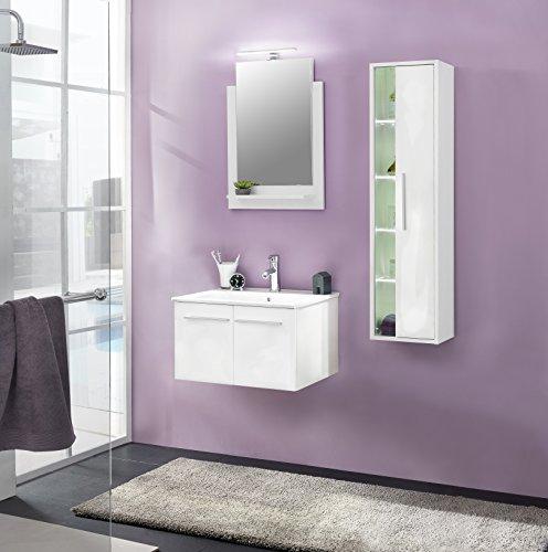 Trendteam Smart Living Badschrank Holz Weiß 27 X 120 X 22 Cm